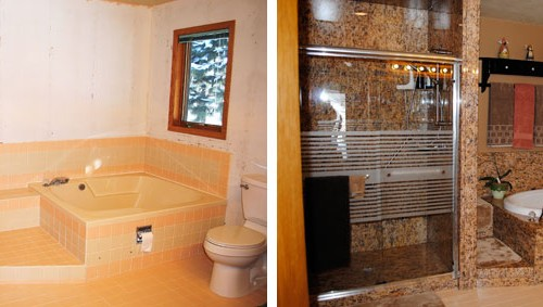 Before and After Bathroom redesign